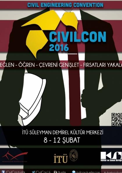 Civil Engineering Convention 2016 Etkinlik Afişi