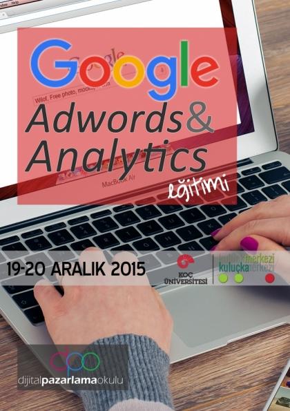 Google AdWords ve Analytics Eğitimi Etkinlik Afişi