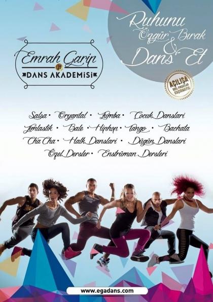 EGA Dans ile Hiç Bilmeyenlere Özel SALSA BACHATA ve CHA CHA CHA Sınıfı Başlıyor ... Afişi