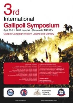 3.Uluslararası Gelibolu Sempozyumu Etkinlik Afişi