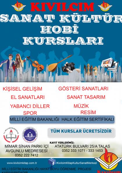 KÜLTÜR EĞİTİM HOBİ KURSLARI Afişi