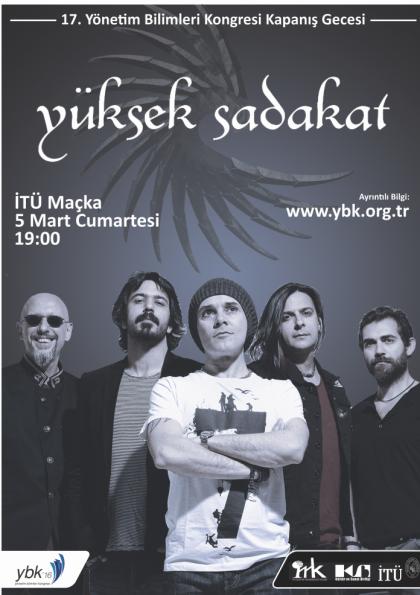Yüksek Sadakat Konseri - 17. Yönetim Bilimleri Kongresi Kapanış Gecesi Etkinlik Afişi