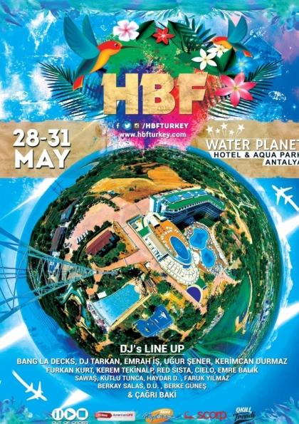 HBF 2016 l Antalya Water Planet Hotel l 28-31 Mayıs l Afişi