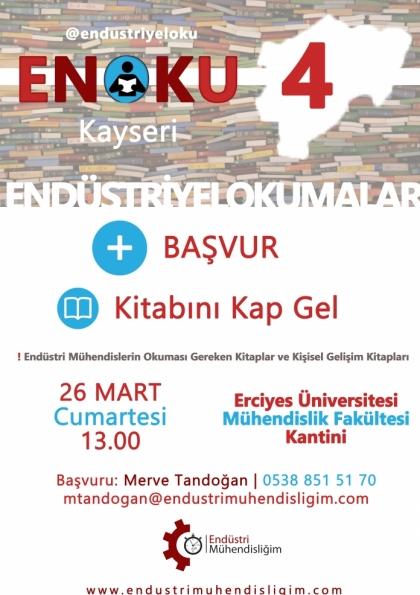 Endüstriyel Okumalar (ENOKU) 4 - Kayseri Etkinlik Afişi