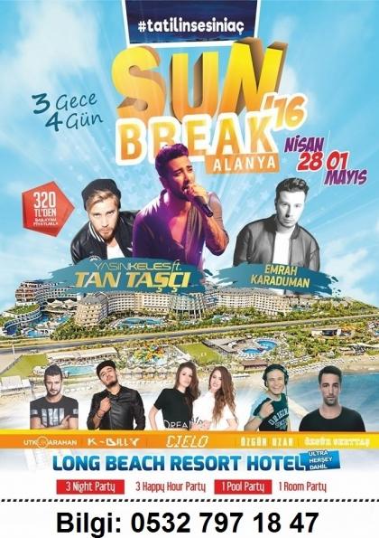 Sun Break - Antalya Tatil Festivali Afişi