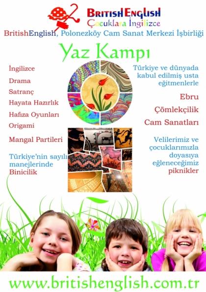 BritishEnglish Yaz Kampı Afişi