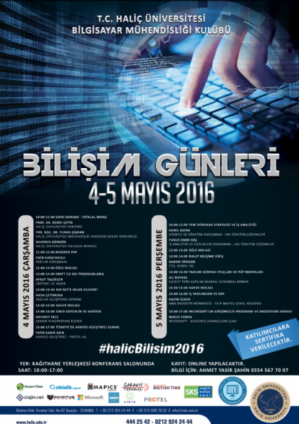 Haliç Üniversitesi 2. Bilişim Günleri Etkinlik Afişi
