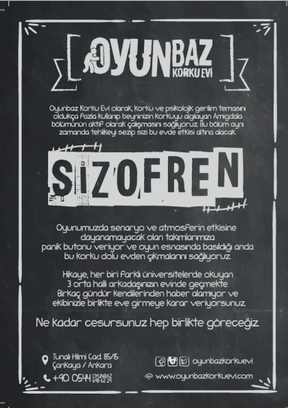 Oyunbaz Korku Evi Ankara Afişi