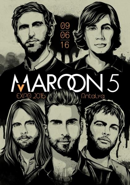 Maroon 5 Antalya Konseri Etkinlik Afişi