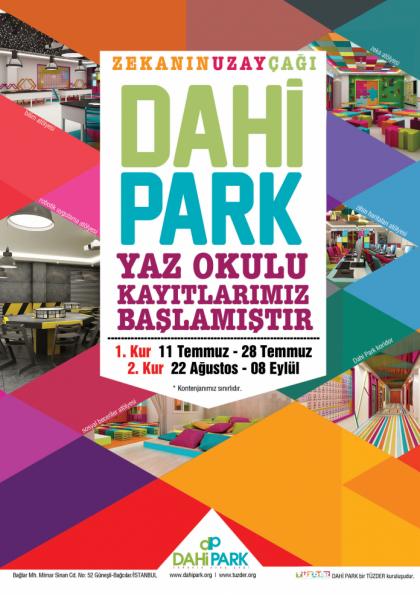 TÜZDER Dahi Park Yaz Okulu Atölye Programı Etkinlik Afişi
