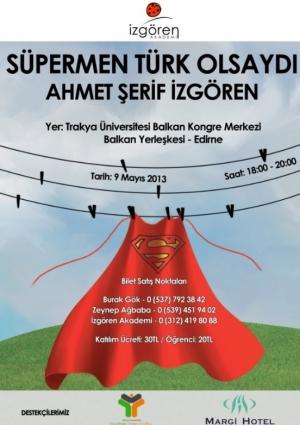 Süpermen Türk Olsaydı - Ahmet Şerif İzgören Etkinlik Afişi