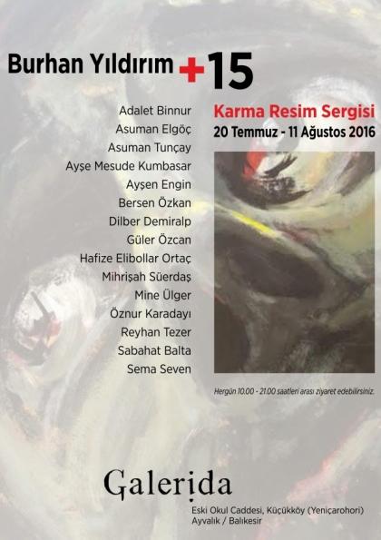 Burhan YILDIRIM+15 Karma Resim Sergisi Afişi
