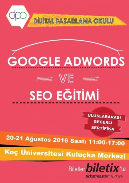 Google AdWords ve SEO Eğitimi Etkinlik Afişi