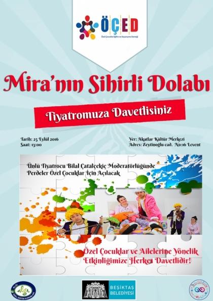 Özel Gereksinimli Çocuklar ve Aileleri için Mira'nın Sihirli Dolabı Tiyatro Gösterisi Etkinlik Afişi