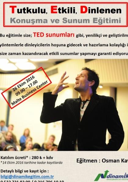 TED Konuşma ve Sunum Eğitimi Afişi