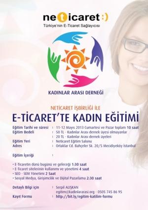 E-Ticaret 'te Kadın Eğitimi Etkinlik Afişi