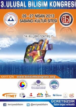 3.Ulusal Bilişim Kongresi Etkinlik Afişi