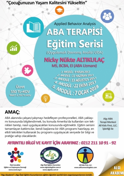 ABA (Applied Behavior Analysis) Terapisi Eğitim Serisi 2017 – 2018