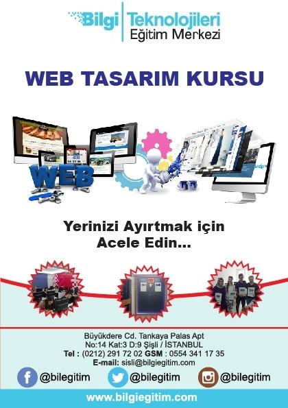 Web Tasarım Eğitimi Etkinlik Afişi