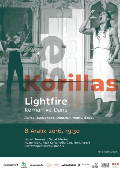 Les Korillas - Lightfire - Keman ve dans Afişi