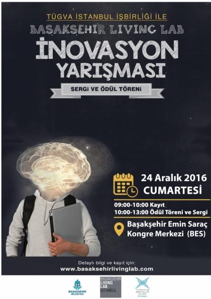 Başakşehir Living Lab İnovasyon Yarışması Sergisi ve Ödül Töreni Daveti Etkinlik Afişi