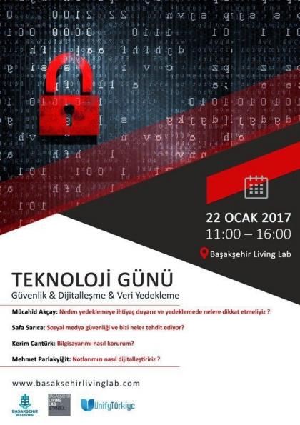 Teknoloji Günü (Güvenlik,Dijitalleşme Ve Veri Yedekleme) Etkinlik Afişi