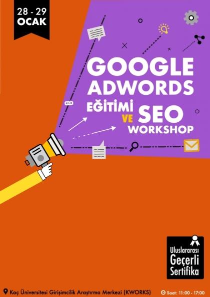 Google AdWords Eğitimi ve SEO WORKSHOP Etkinlik Afişi