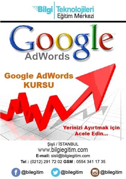 Google Adwords Kursu Etkinlik Afişi