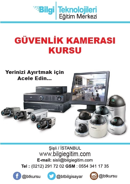 Güvenlik Kamerası Kursu Etkinlik Afişi