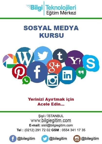 Sosyal Medya Kursu Etkinlik Afişi