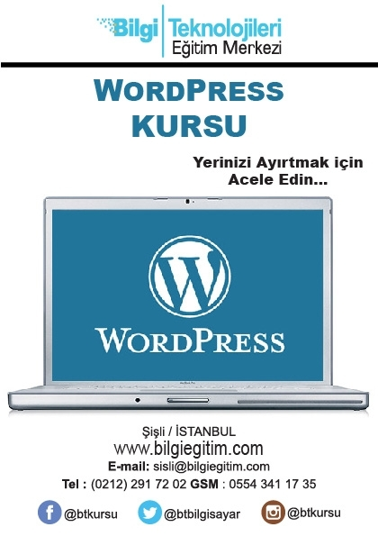 Wordpress Kursu Afişi