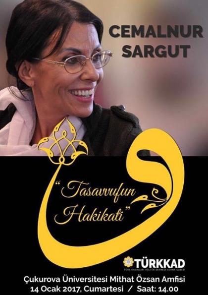 Cemalnur Sargut Adana Konferansı Etkinlik Afişi
