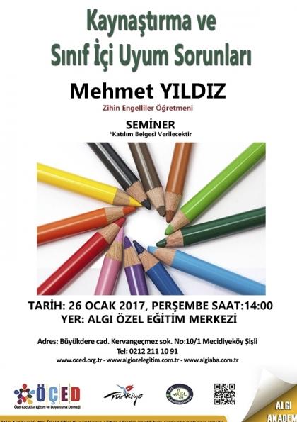 Kaynaştırma ve Sınıf İçi Uyum Sorunları – Seminer Afişi