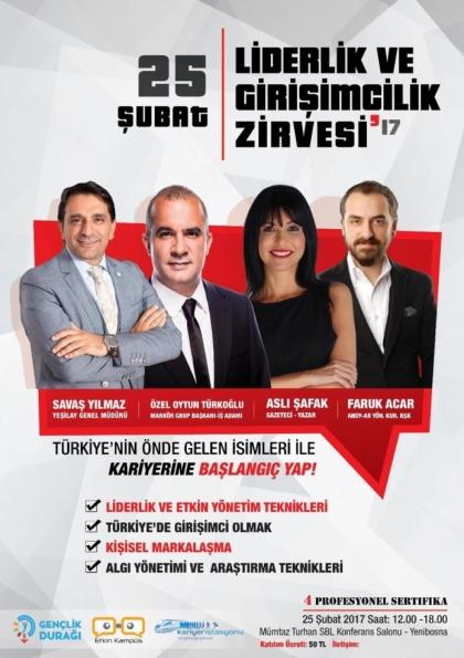 İstanbul Liderlik ve Girişimcilik Zirvesi '17 Afişi