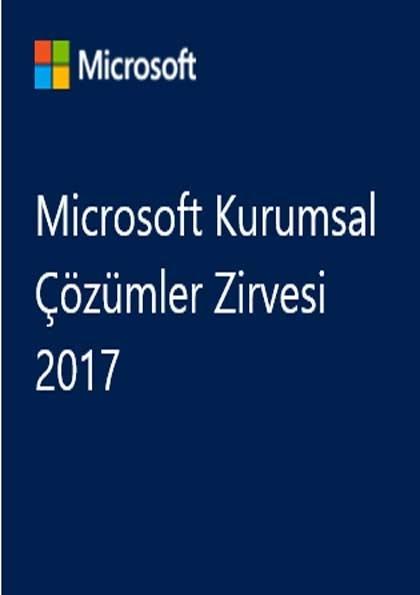 Microsoft Kurumsal Çözümler Zirvesi 2017 Etkinlik Afişi