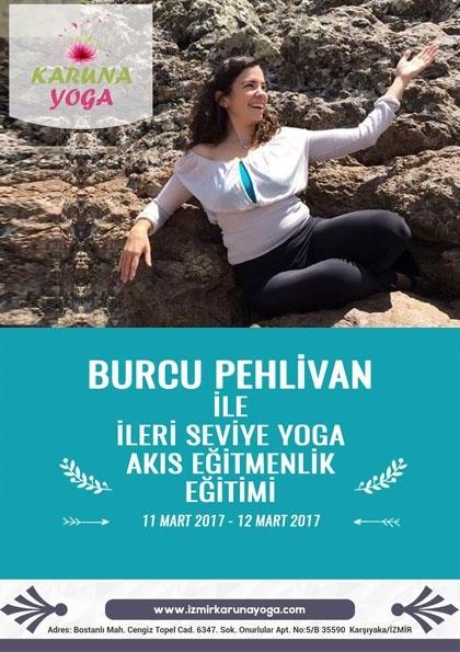 Burcu Pehlivan ile İleri Seviye Yoga Akış Eğitmenlik Eğitimi Afişi