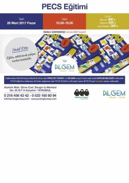 PECS Eğitimi Etkinlik Afişi