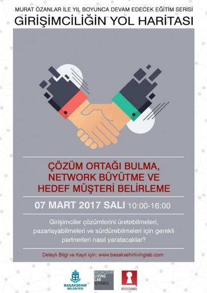 Çözüm Ortağı Bulma, Network Büyütme ve Hedef Müşteri Belirleme Etkinlik Afişi