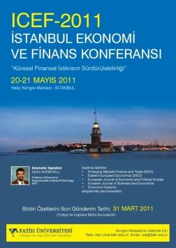 İstanbul Ekonomi ve Finans Konferansı Etkinlik Afişi