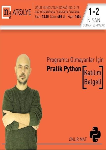 Programcı Olmayanlar için Pratik Python Afişi