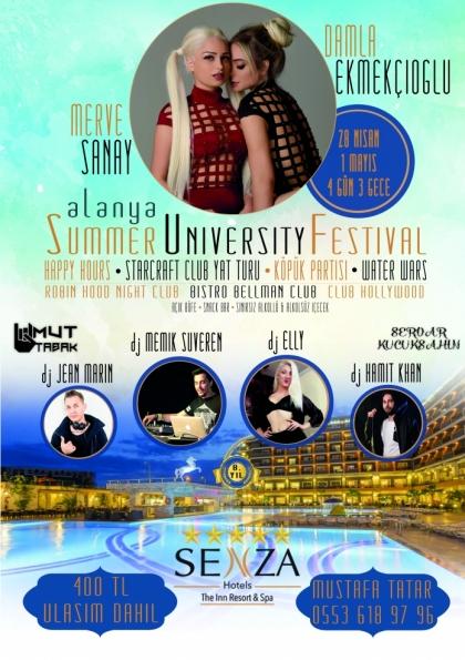 4 Gün 3 Gece Yaza Merhaba Tatili - Summer University Festival Afişi