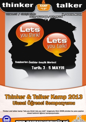 Thinker and Talker Kamp '13 - Marmara Community Etkinlik Afişi