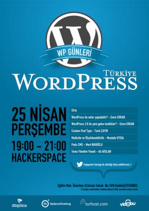 WordPress Günleri Semineri Etkinlik Afişi