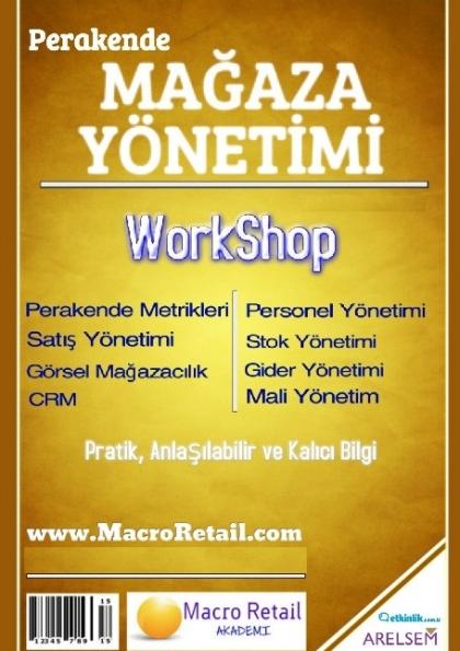 Perakende Mağaza Yönetimi WorkShop Etkinlik Afişi