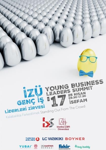 İZÜ Genç İş Liderleri Zirvesi'17 Etkinlik Afişi