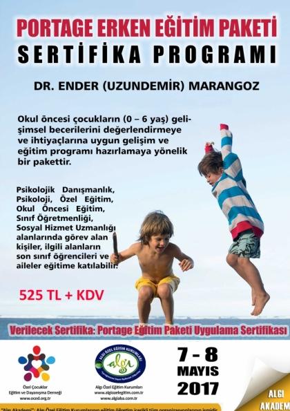 Portage Erken Eğitim Paketi Sertifika Programı