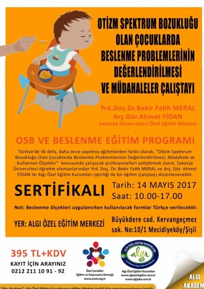 Otizm Spektrum Bozukluğu Olan Çocuklarda Beslenme Problemlerinin Değerlendirilmesi ve Müdahaleler Çalıştayı