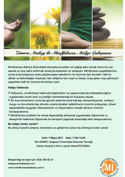 Zümra Atalay ile Mindfulness Atölye Çalışması