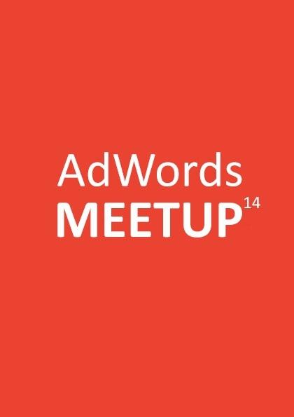AdWords Meetup 14 Etkinlik Afişi