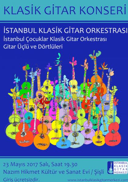 İstanbul Klasik Gitar Orkestrası Konseri Etkinlik Afişi